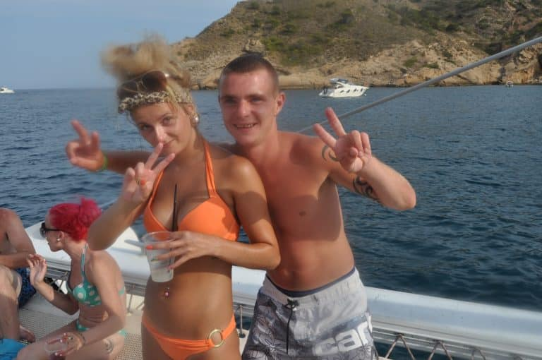 stag hen ibiza boat party